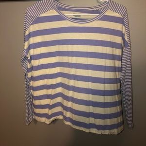 Purple and white stripped long sleeve